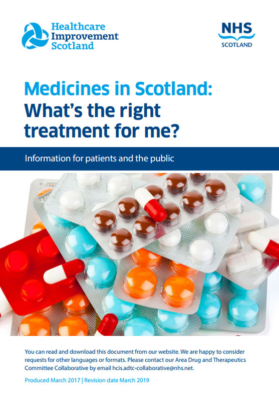 Cover of Medicines in Scotland: What's the Right Treatment for Me?