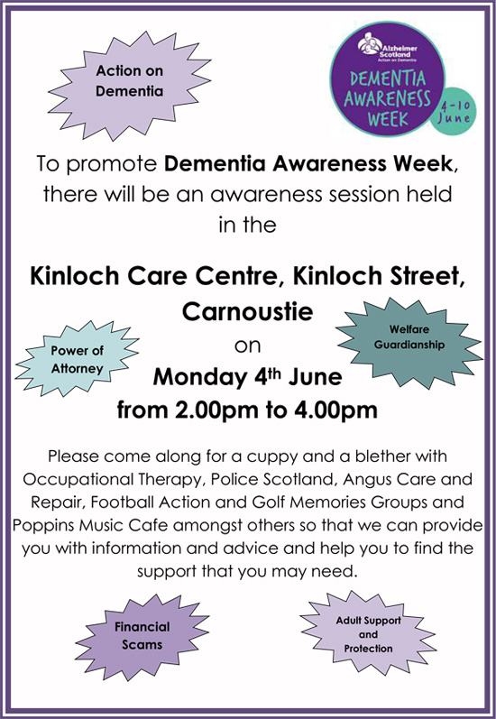 Dementia Awareness Event Poster