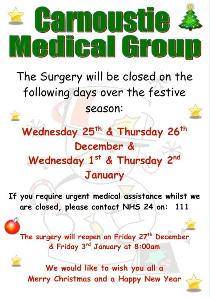 Image of the festive closures poster