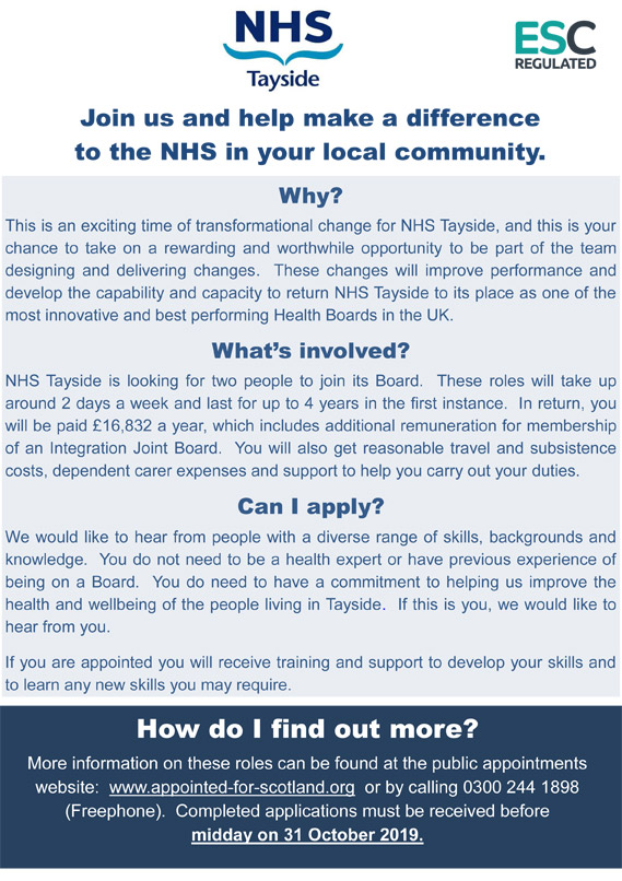 NHS Tayside Poster